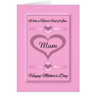 Mom / Happy Mother's Day - Pink Hearts Card