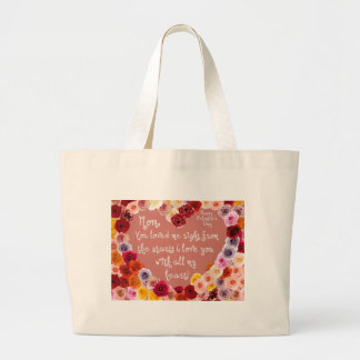 Mom, Happy Valentine's Day... Large Tote Bag