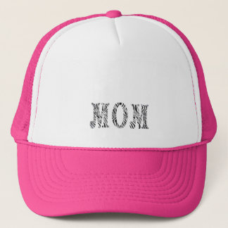 MOM -HAT ZEBRA  PRINT TRUCKER HAT