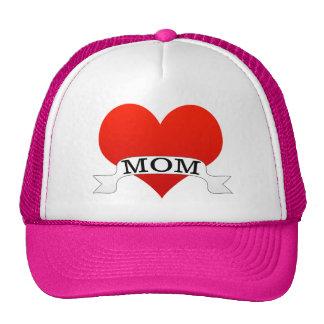 Mom Heart Mesh Hat