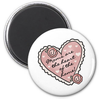 Mom Heart of the Home 2 Inch Round Magnet