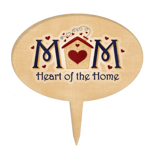 MOM Heart of the Home Cake Topper