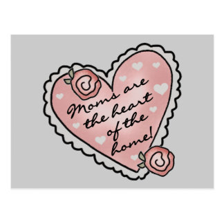 Mom Heart of the Home T-shirts and Gifts Postcard