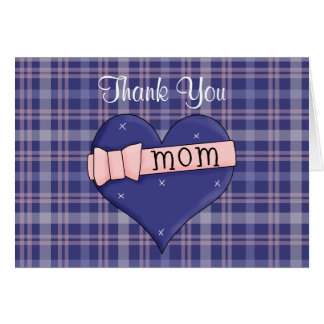 Mom Heart Thank You Note Card