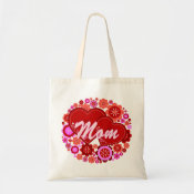 Mom Hearts and flowers love design bag