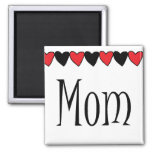 Mom Hearts Magnets