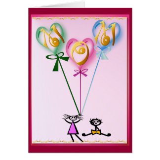 Mom Hearts n Kids Card