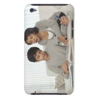 mom helping son with homework iPod touch Case-Mate case