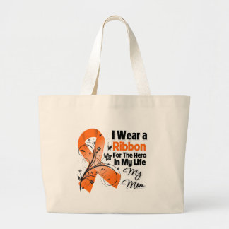 Mom Hero in My Life Leukemia Canvas Bags