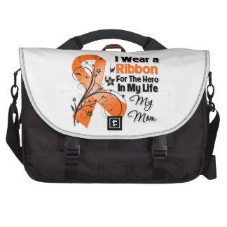 Mom Hero in My Life Leukemia Laptop Messenger Bag