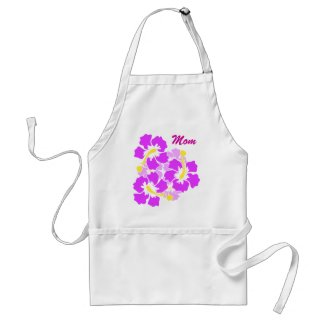 Mom Hibiscus Flower Apron apron