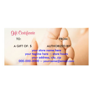 MOM Holding A Baby Foot Gift Certificate Rack Card