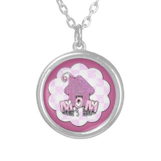MOM HOME'S HEART SILVER PLATED NECKLACE