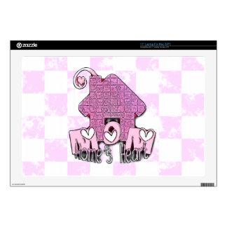 "MOM HOME'S HEART 17"" LAPTOP SKINS"