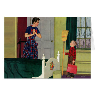 Mom, I Cleaned My Room! Greeting Cards