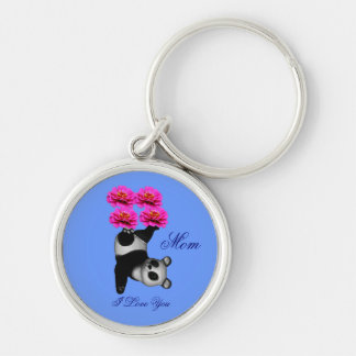 Mom I Love You Juggling Panda Keychain