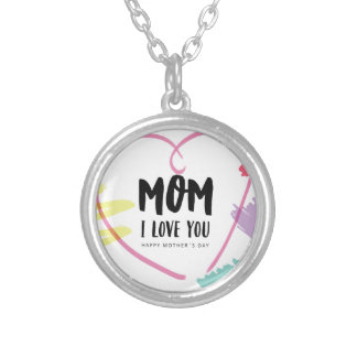 Mom I love you Silver Plated Necklace
