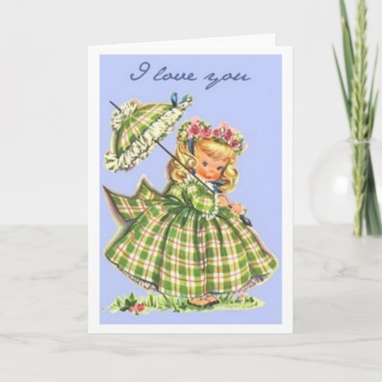Plaid I Love You Greeting Card