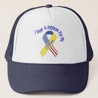 Mom - I Wear A Ribbon Military Patriotic Trucker Hat