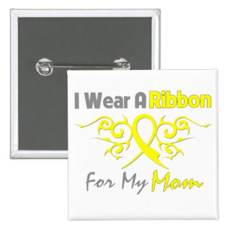 Mom - I Wear A Yellow Ribbon Military Support Pins