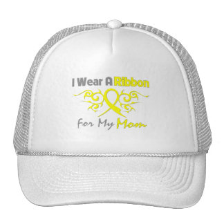 Mom - I Wear A Yellow Ribbon Military Support Hat