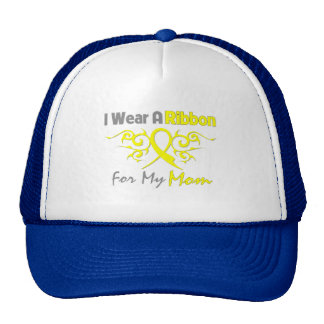 Mom - I Wear A Yellow Ribbon Military Support Trucker Hat