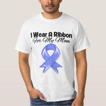 Mom - I Wear Periwinkle Ribbon Tshirts