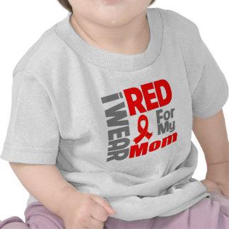 Mom - I Wear Red Ribbon T-shirts