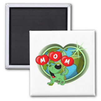 Mom in Hearts (Leaf) Magnet