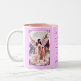 Mom in Heaven Two-Tone Coffee Mug