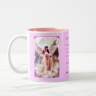 Mom in Heaven Two-Tone Coffee Mug