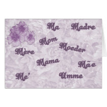 Mom in many languages card