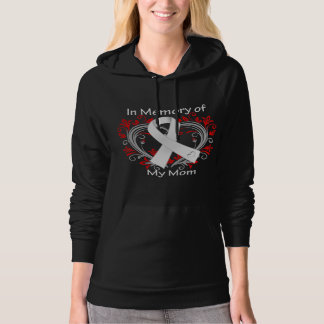 Mom - In Memory Lung Cancer Heart Hooded Pullover