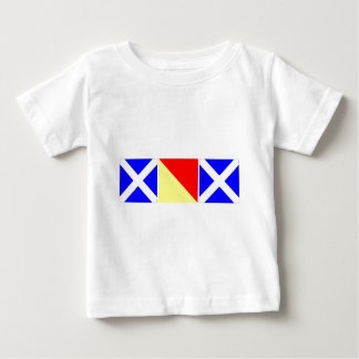 mom in nautical code flags baby T-Shirt