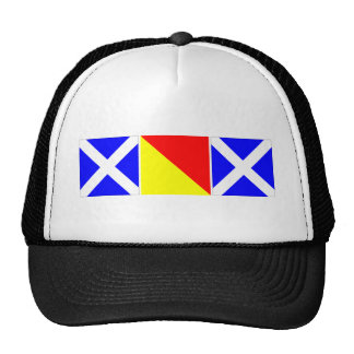 mom in nautical code flags hat