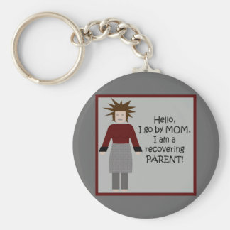 Mom in Recovery 2 Basic Round Button Keychain