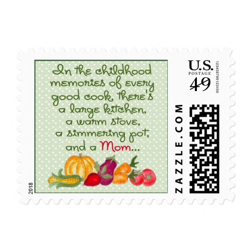 Mom In The Kitchen Postage Stamp