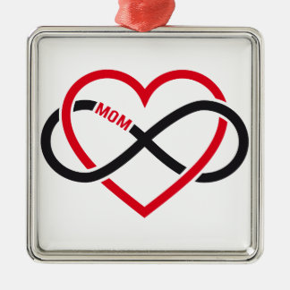 Mom infinity heart for Mother's day Christmas Tree Ornaments