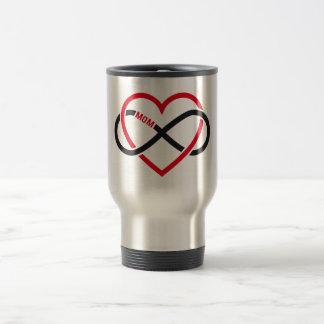 Mom infinity heart for Mother's day Travel Mug