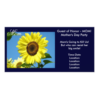 Mom Invitations Photocard Guest of Honor! Mothers Photo Cards