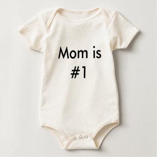Mom is #1 baby bodysuit