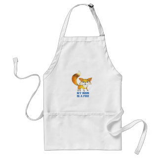 MOM IS A FOX ADULT APRON
