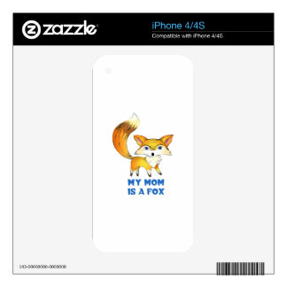 MOM IS A FOX SKINS FOR iPhone 4