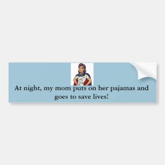 Mom is a Nurse Super Hero Bumper Sticker