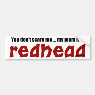 Mom is a Redhead Bumper Sticker