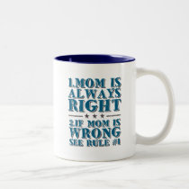 Mom is Always Right Funny Mug for Mothers Day Gift