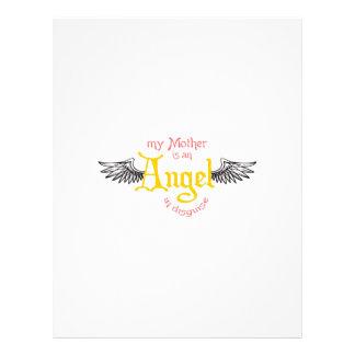 MOM IS AN ANGEL CUSTOM LETTERHEAD