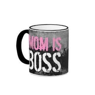 Mom is Boss Ringer Coffee Mug