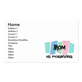 Mom Is Forever Double-Sided Standard Business Cards (Pack Of 100)