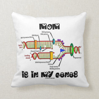 Mom Is In My Genes (DNA Replication) Throw Pillow
